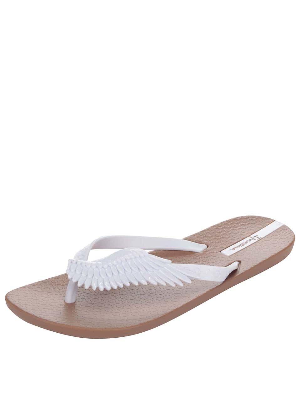 973201b5a0b Bílo-hnědé žabky s křídly Ipanema Summer Love ...