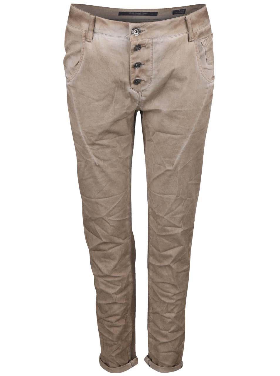 a5c7a683e044 Béžové dámske nohavice s elastickým zadným dielom Broadway Amy ...