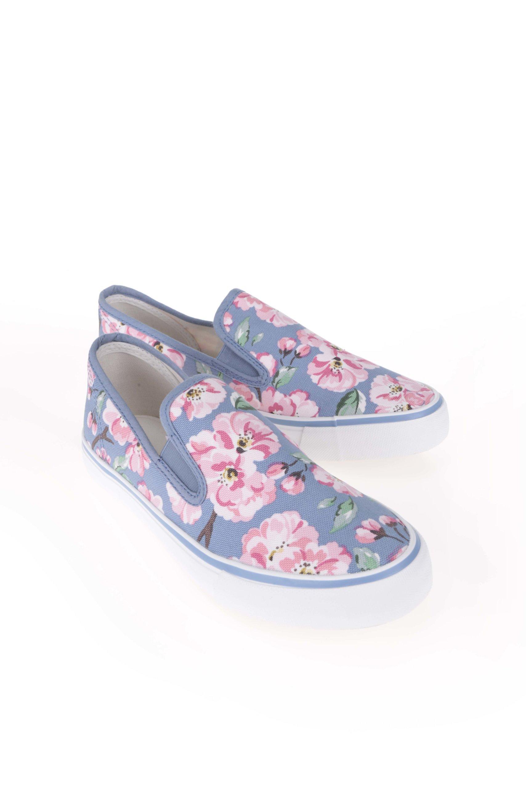 37a9ad0ad5 Bílo-modré slip on tenisky s květy Cath Kidston ...
