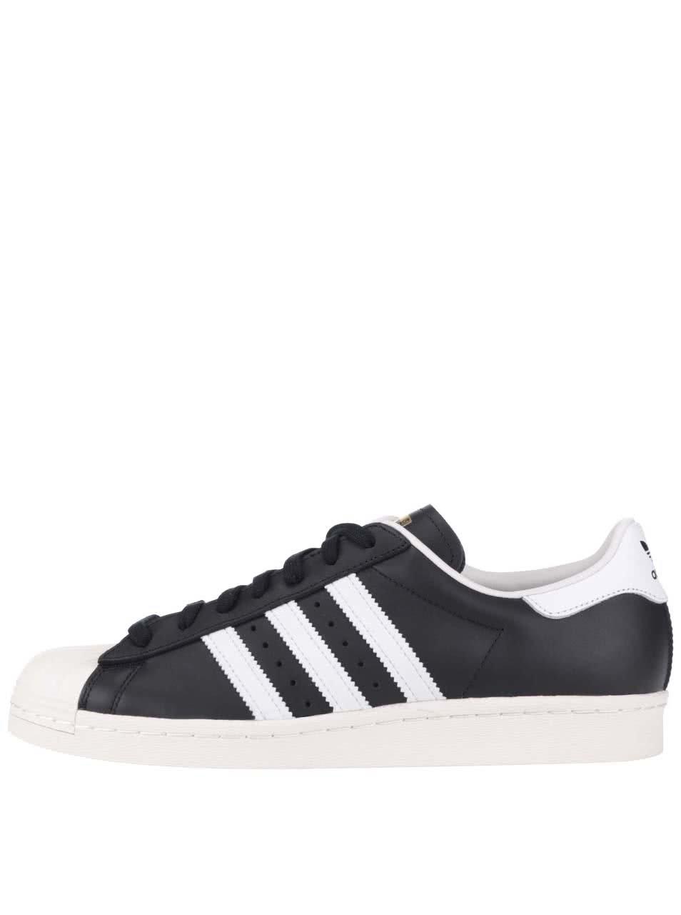 Bielo-čierne pánske kožené tenisky adidas Originals Superstar 80s ... 9b649b22e7