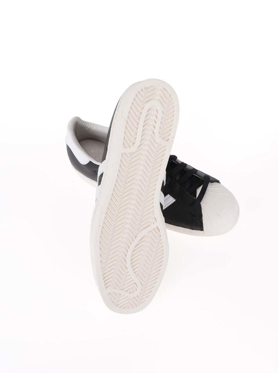 Bielo-čierne pánske kožené tenisky adidas Originals Superstar 80s ... 8b47ddbdd34