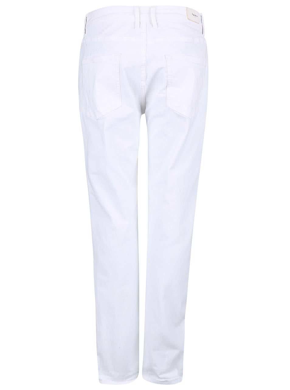 Bílé dámské džíny s roztrhaným efektem Pepe Jeans Vagabond ... 75e1b5bec1