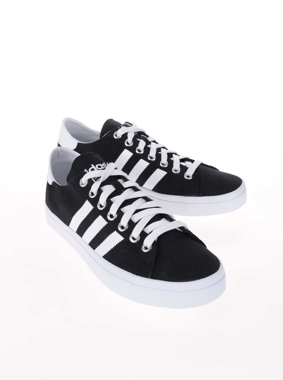 Černé pánské plátěné tenisky adidas Originals Court Vantage ... 0e169cbda7