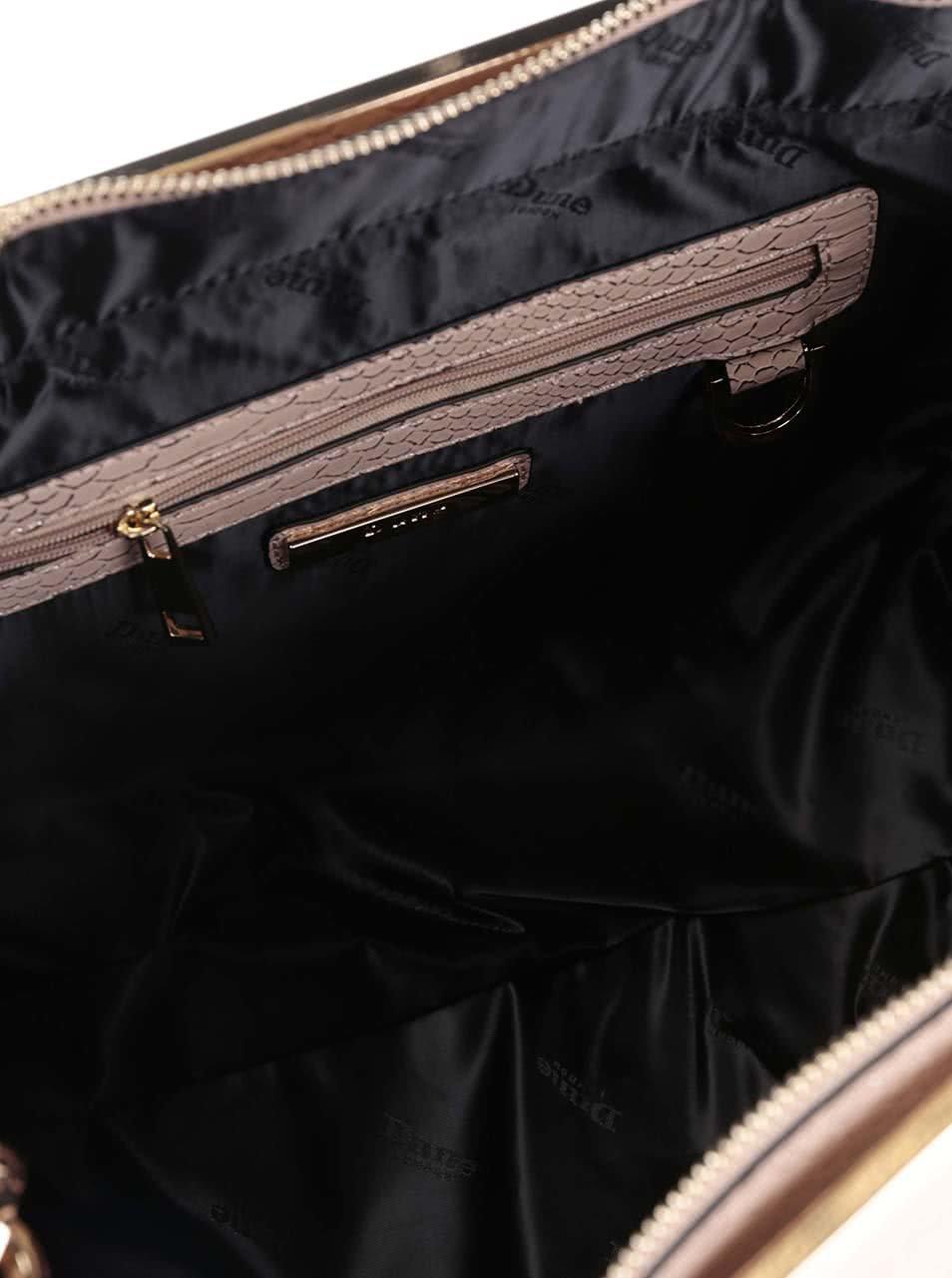 e201661aec2ee Telová kabelka do ruky s detailmi v zlatej farbe Dune London Doreen ...