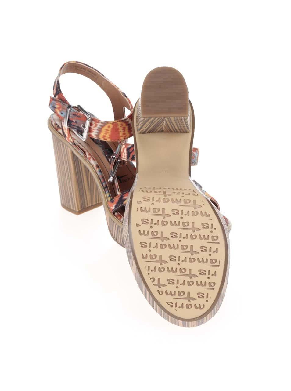 Barevné boty na podpatku a platformě Tamaris ... 0a24999308