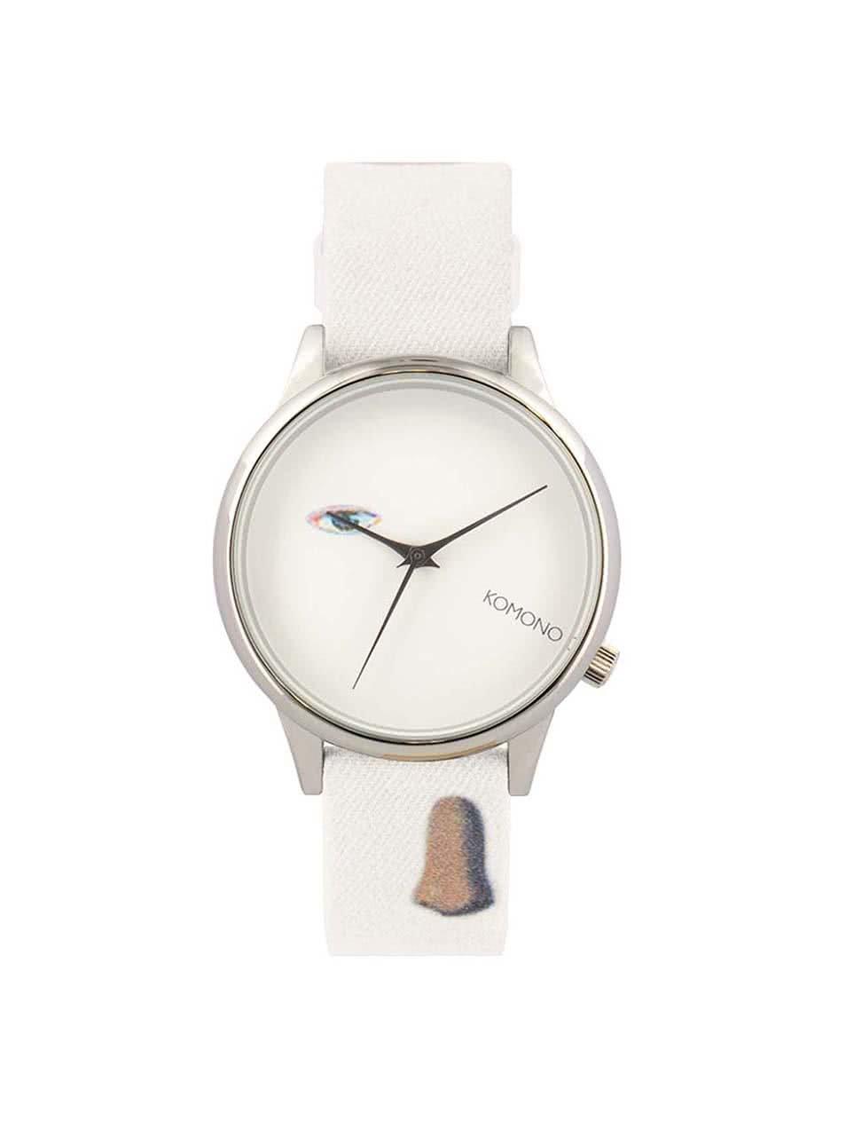 cdbc93c51 Dámske hodinky v striebornej farbe s textilným remienkom Komono Estelle by  René Magritte ...