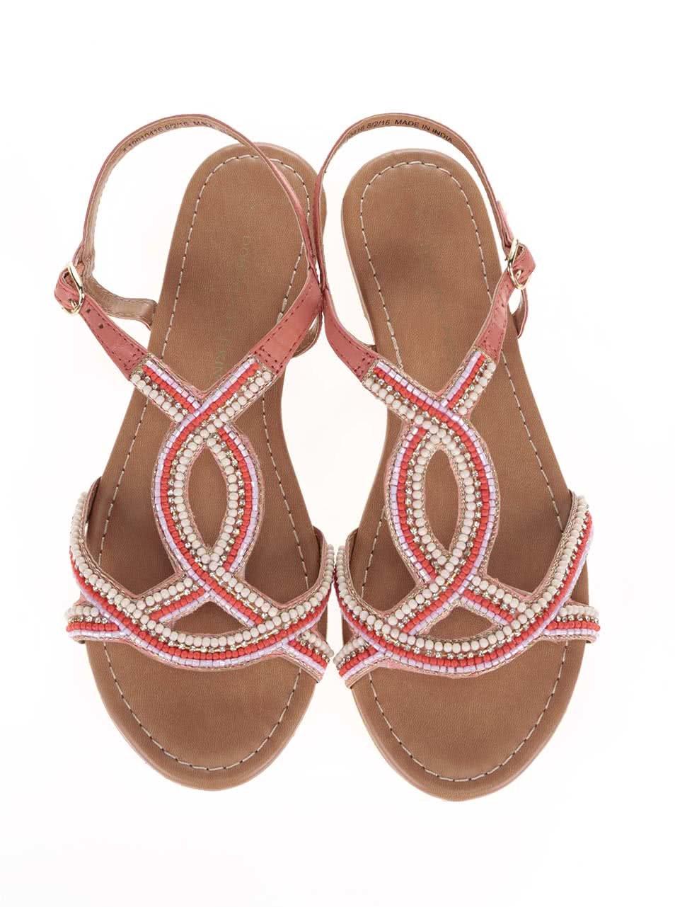 6e379b006ac1 Růžové sandálky s barevnými kamínky Dorothy Perkins ...