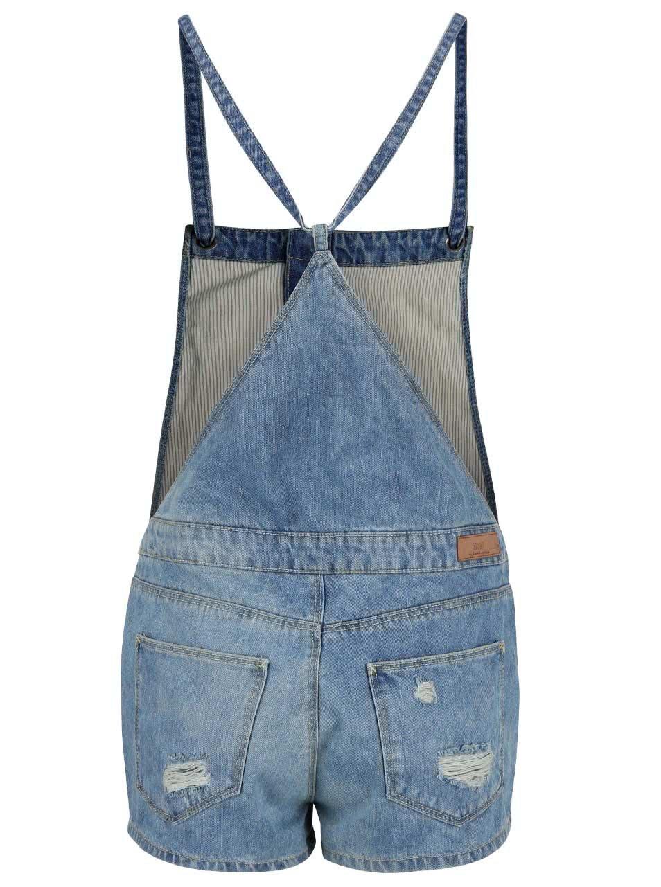 Modré džínové kraťasy s laclem ONLY Kimber ... 352267b74c