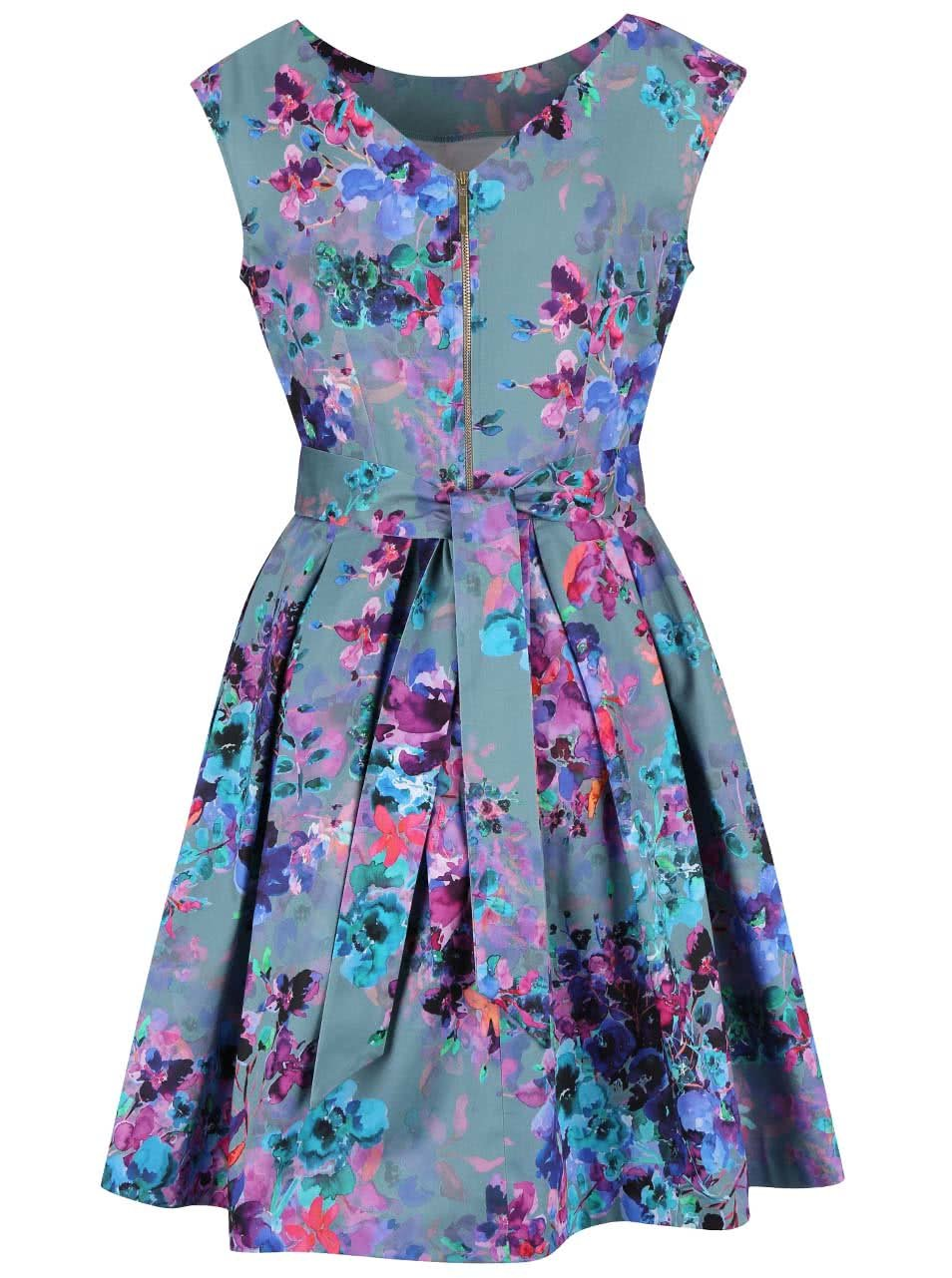 9445a37d9c1 Zelenomodré šaty s květinovým vzorem Closet ...