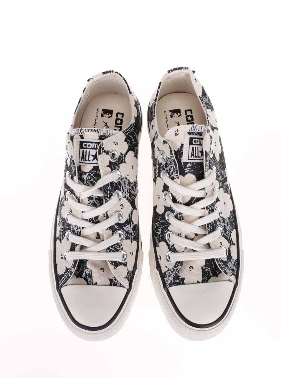 308e79c68e Krémovo-čierne kvetované dámske tenisky Converse Chuck Taylor All Star ...