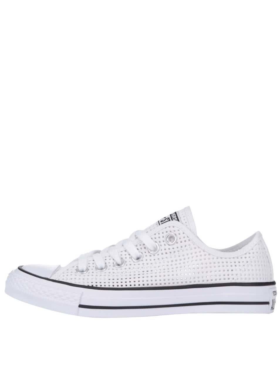 Biele perforované dámske tenisky Converse Chuck Taylor All Star ... e1d97e3751