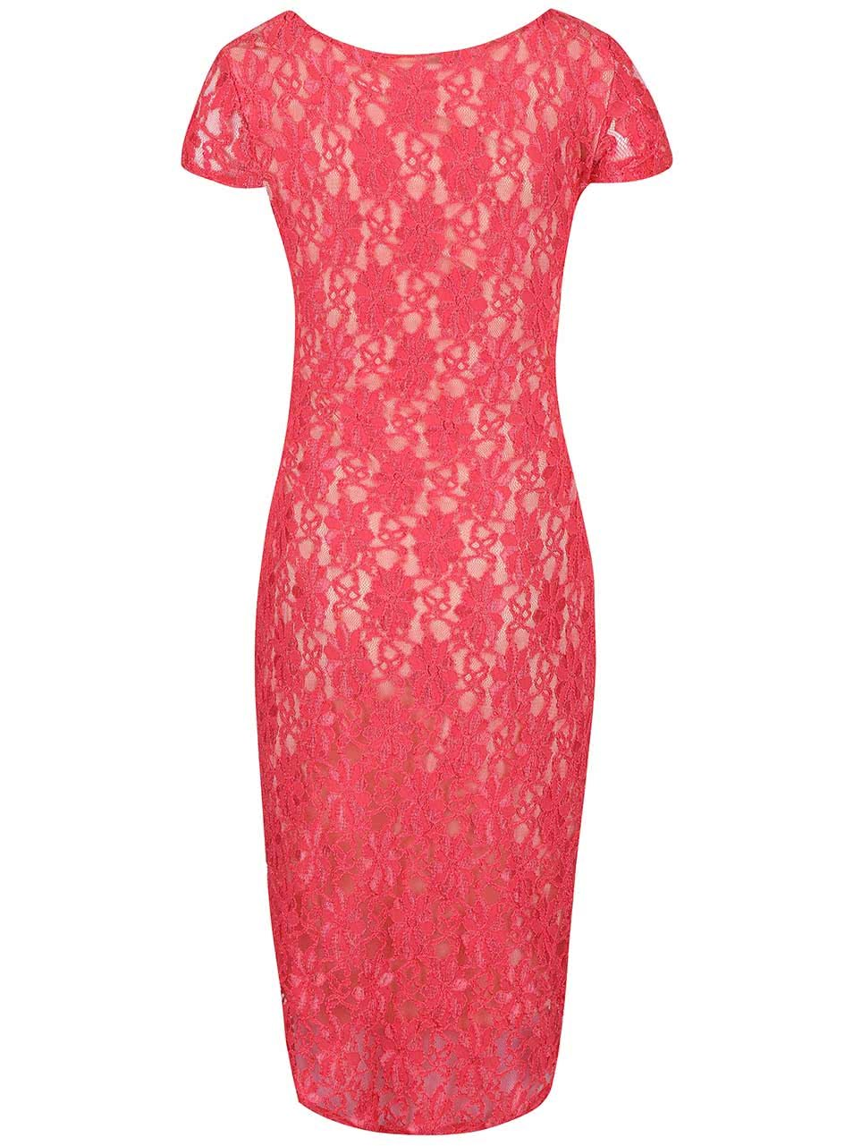 Krémovo-růžové těhotenské krajkové šaty Dorothy Perkins Maternity ... 822df334da