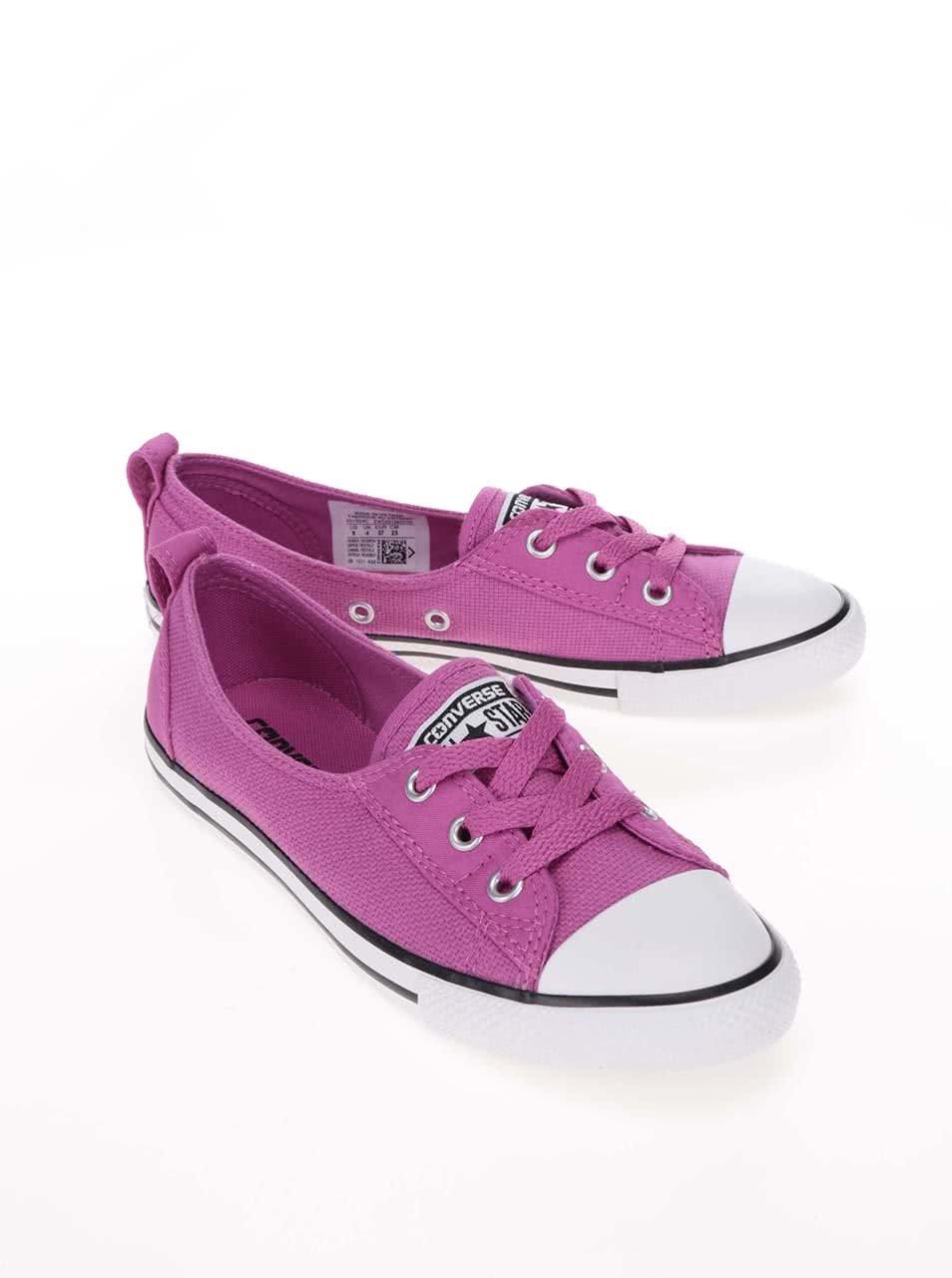 Tmavě růžové dámské tenisky Converse Chuck Taylor All Star Ballet Lace ... c7a4c2c7da4