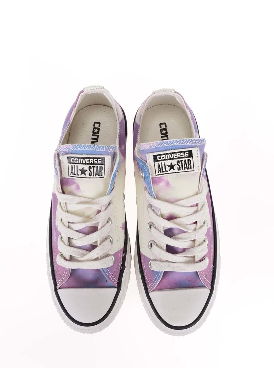 d35f104d3e7 Bílo-fialové dámské tenisky s potiskem Converse Chuck Taylor All Star ...