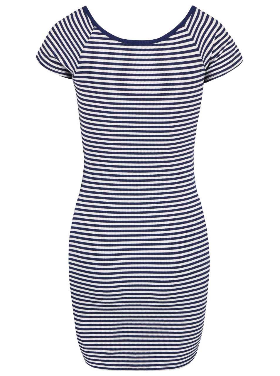Krémovo-modré pruhované těhotenské šaty Dorothy Perkins Maternity ... d603e613d3