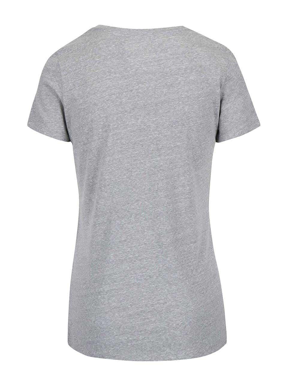 c0e9ad9f6 Sivé dámske tričko s krátkym rukávom Converse | ZOOT.sk