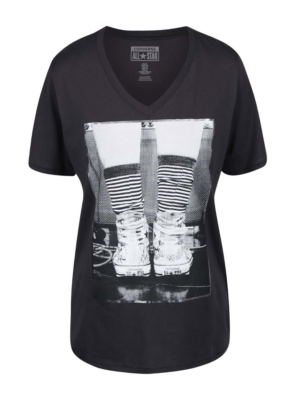 806acc412d268 Sivé dámske tričko s véčkovým výstrihom Converse | ZOOT.sk