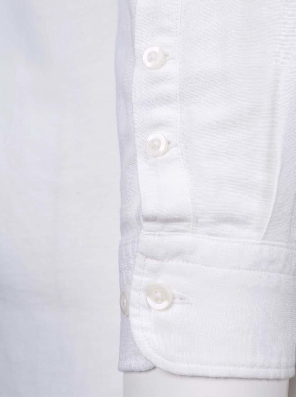 Bílá košile bez límečku Selected Donecal ... 427b189867
