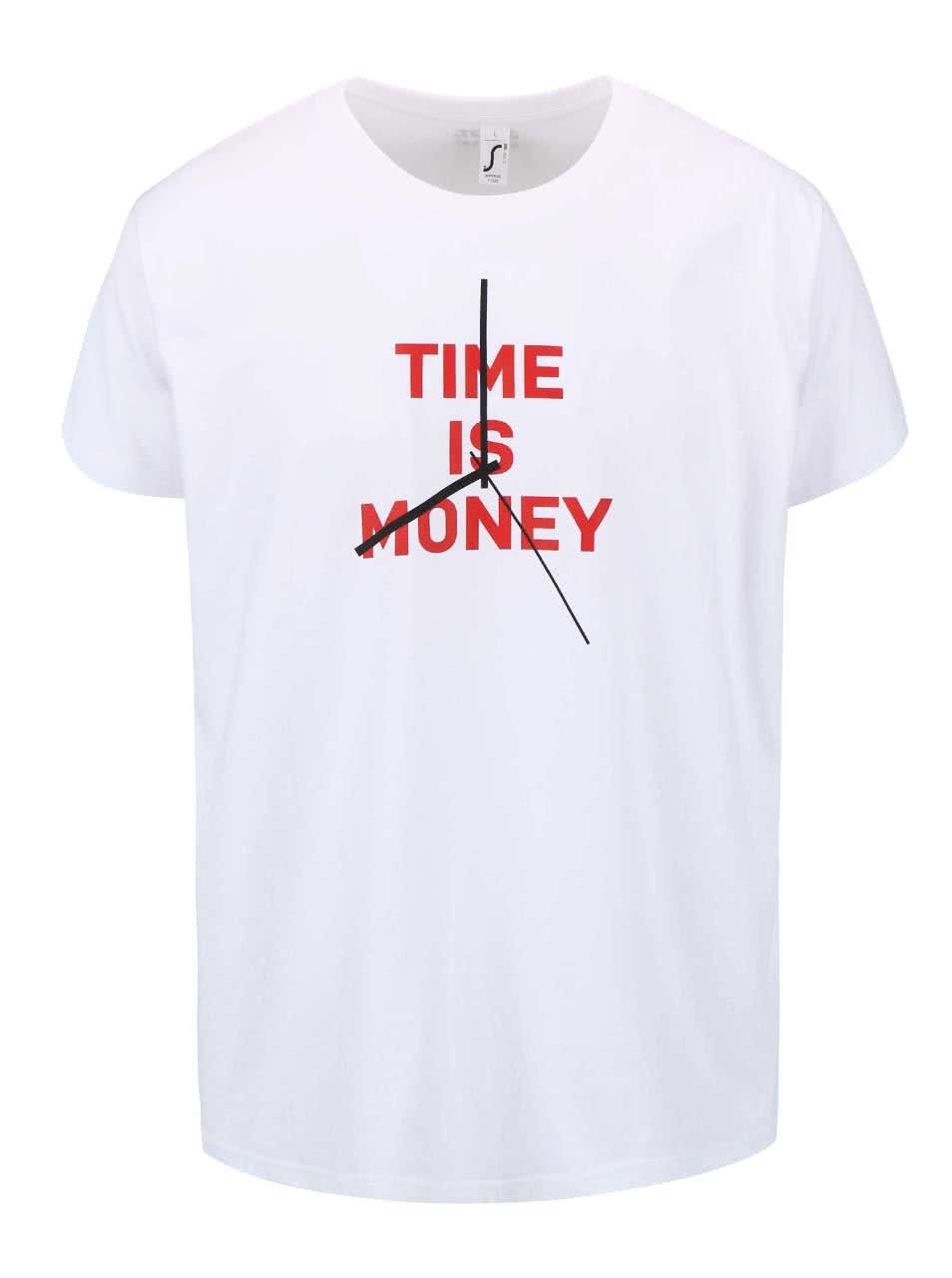 Biele pánske tričko ZOOT Originál Time Is Money ... 4fc87a67925