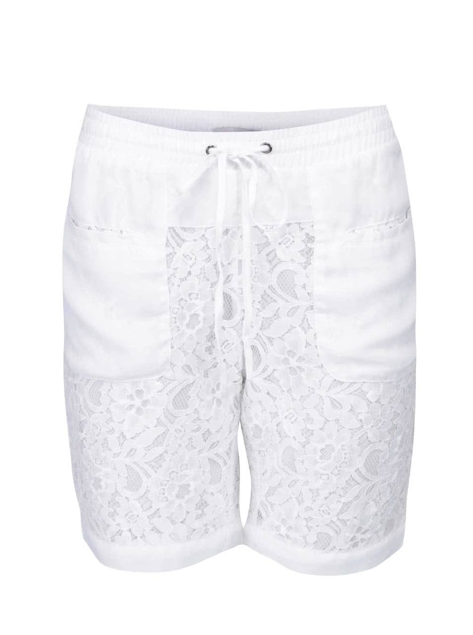 d7fa8a205806 Biele čipkované šortky ICHI Aliyah ...