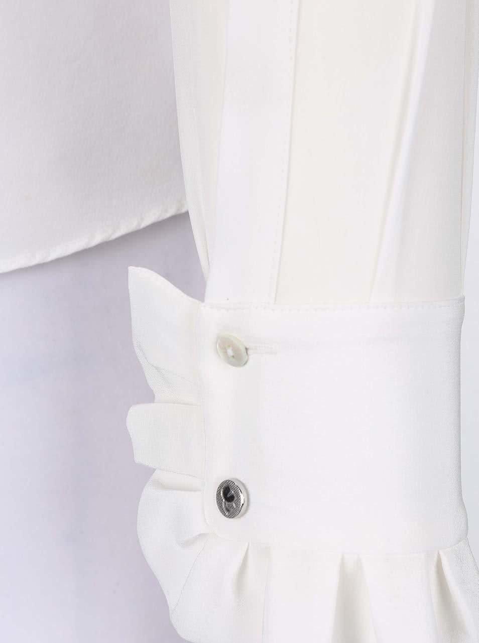 8c7981c5a35 Krémová hedvábná košile s vázankou KARL LAGERFELD ...