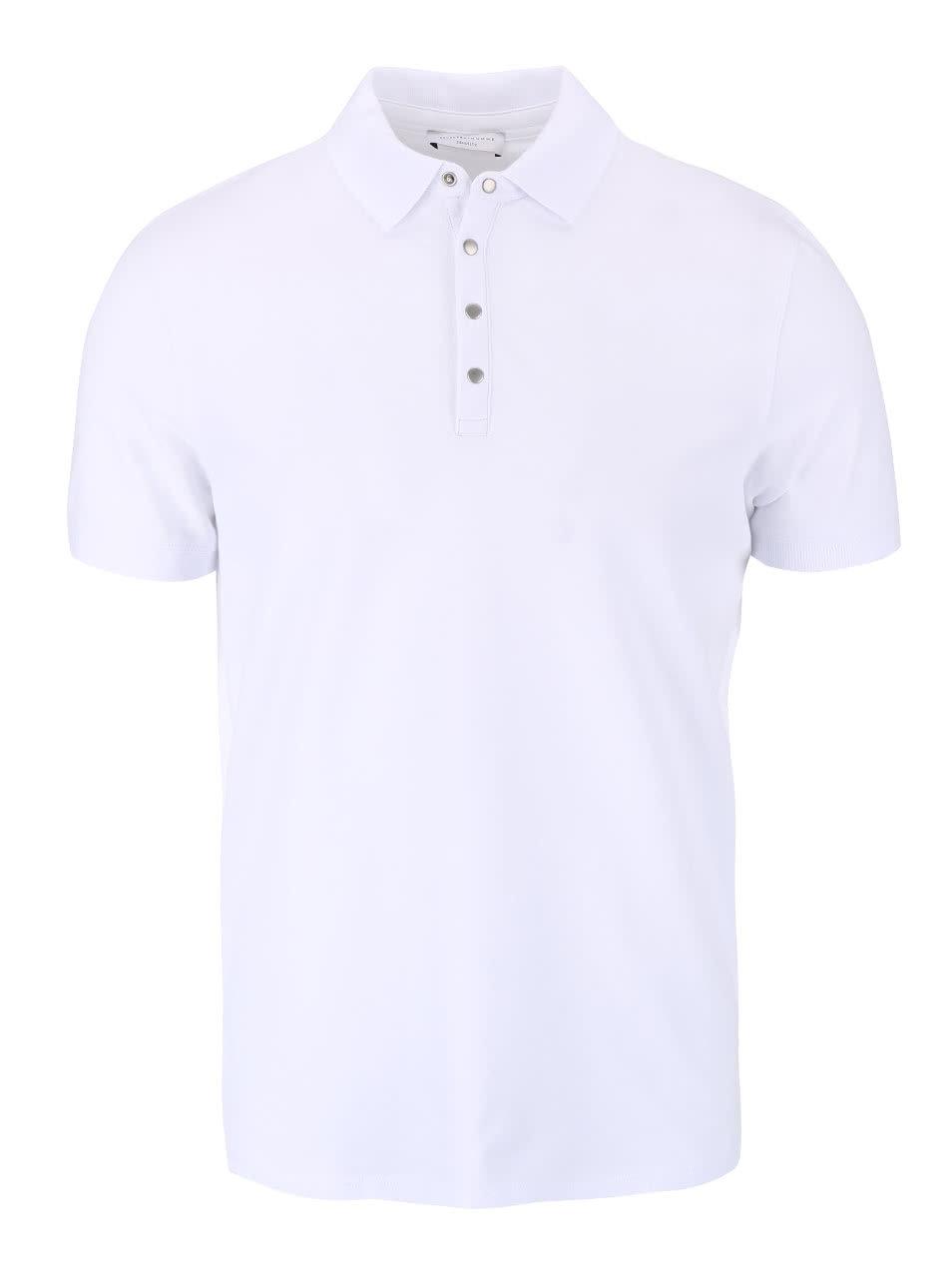 bd92d45ff71 Bílé polo triko Selected Homme Dawson ...