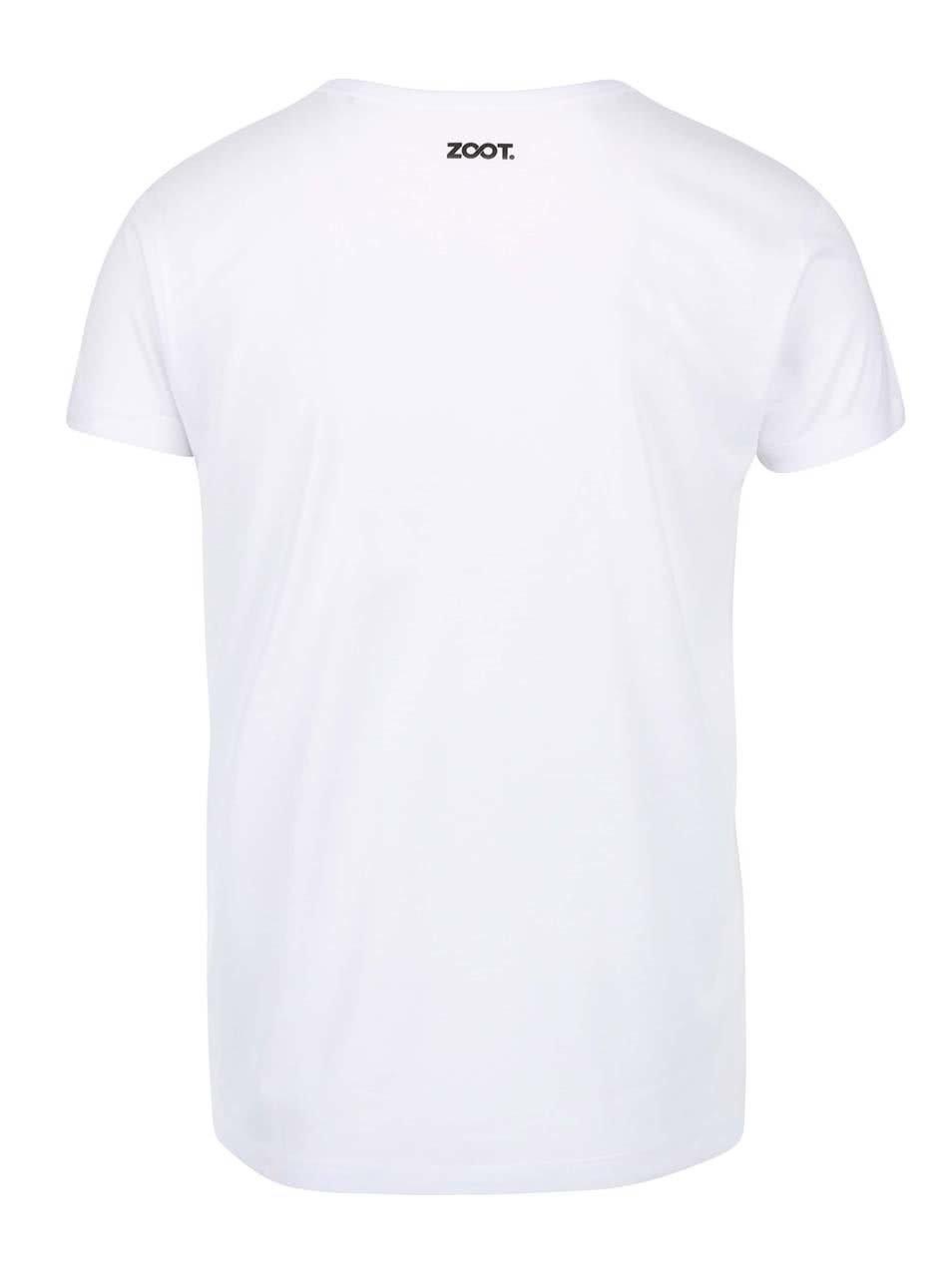 8b5a91836a1 Bílé pánské vzorované tričko Míša ...