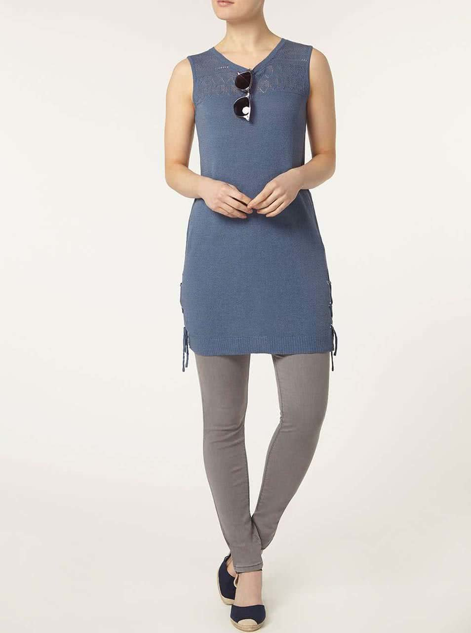 501e28390fb8 Modré ľahké šaty Dorothy Perkins ...