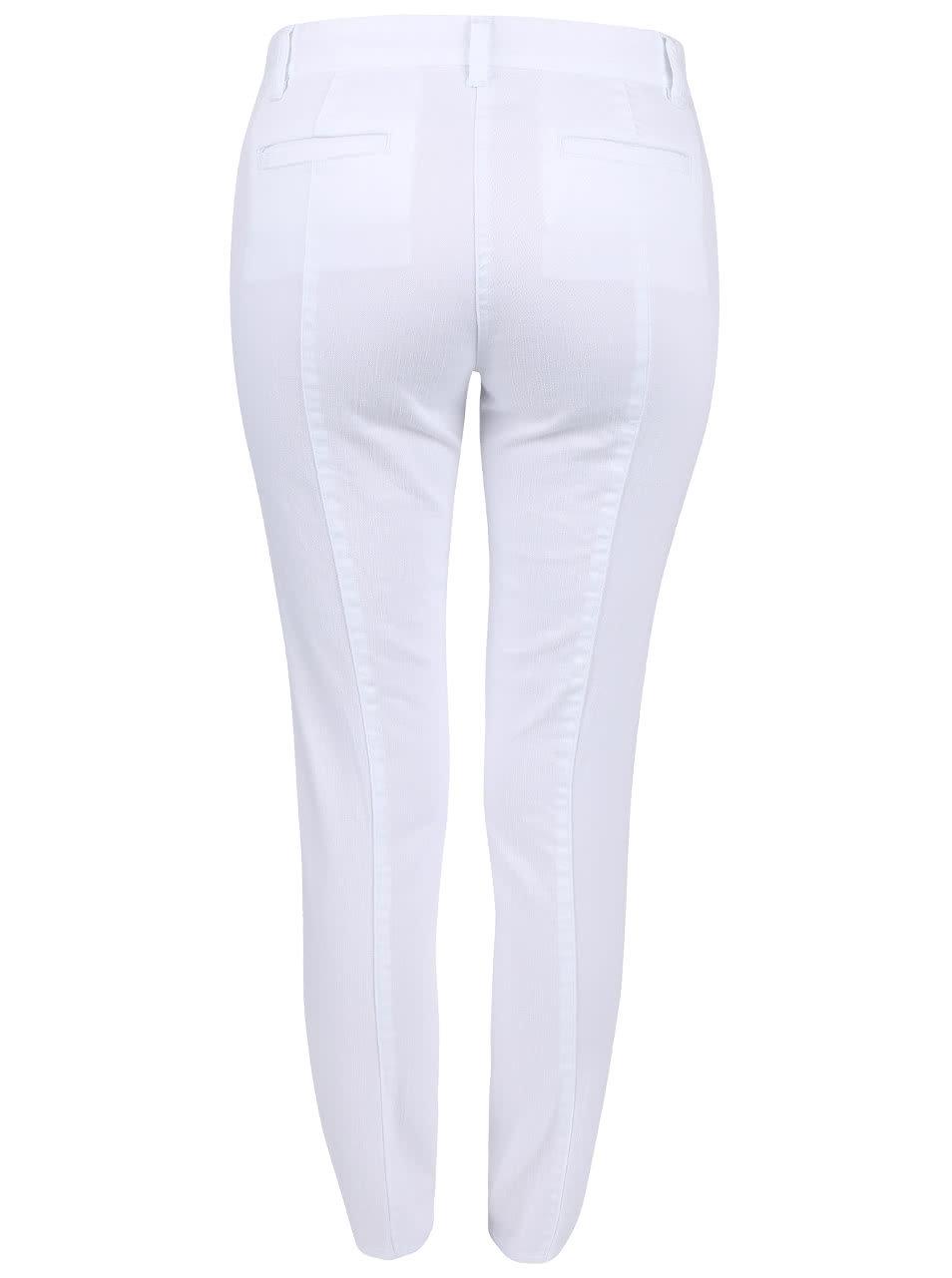 d5cdd7aaed Biele dámske nohavice s gombíkmi Nautica ...
