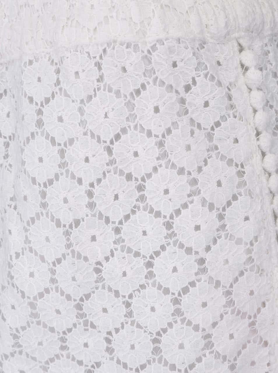 bfa851f2d416 Biele čipkované kraťasy VERO MODA Jolien ...