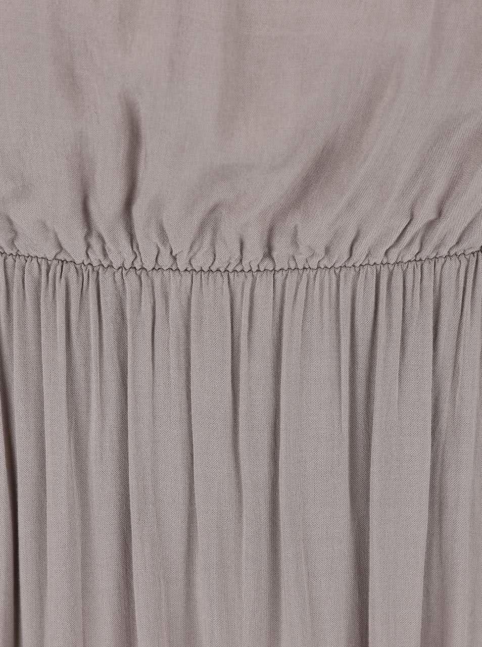 Šedé dlouhé šaty bez ramínek Madonna ... 69e385608b