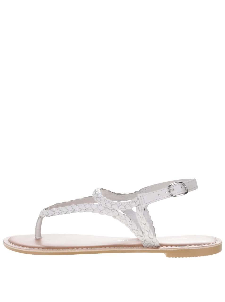 f9cf97dabae1 Biele kožené sandále Dorothy Perkins ...