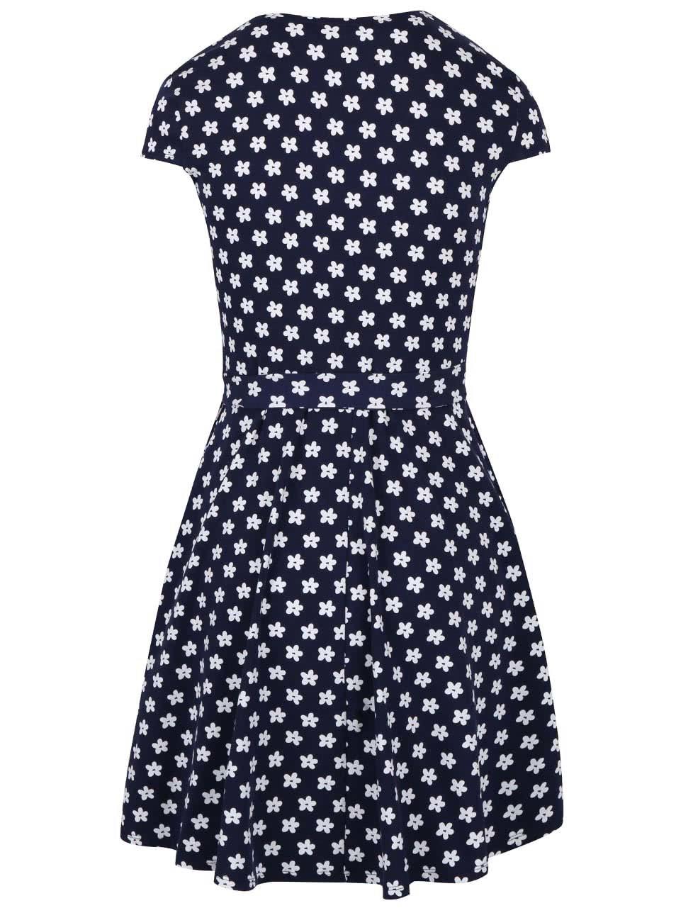Tmavě modré zavinovací šaty s květinovým vzorem Dorothy Perkins ... 5086772306