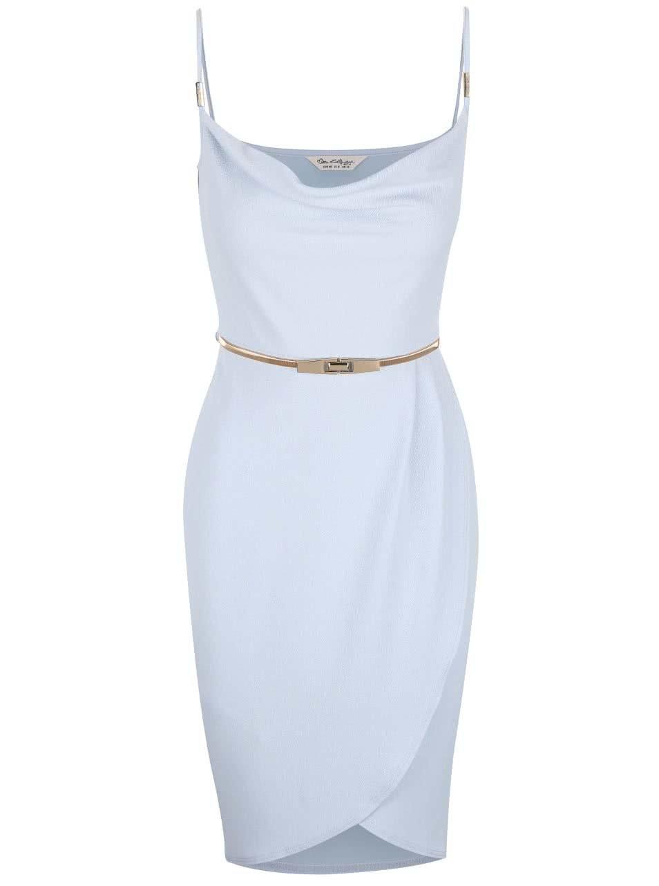 9df6c1b1fe35 Světle modré šaty s páskem ve zlaté barvě Miss Selfridge ...