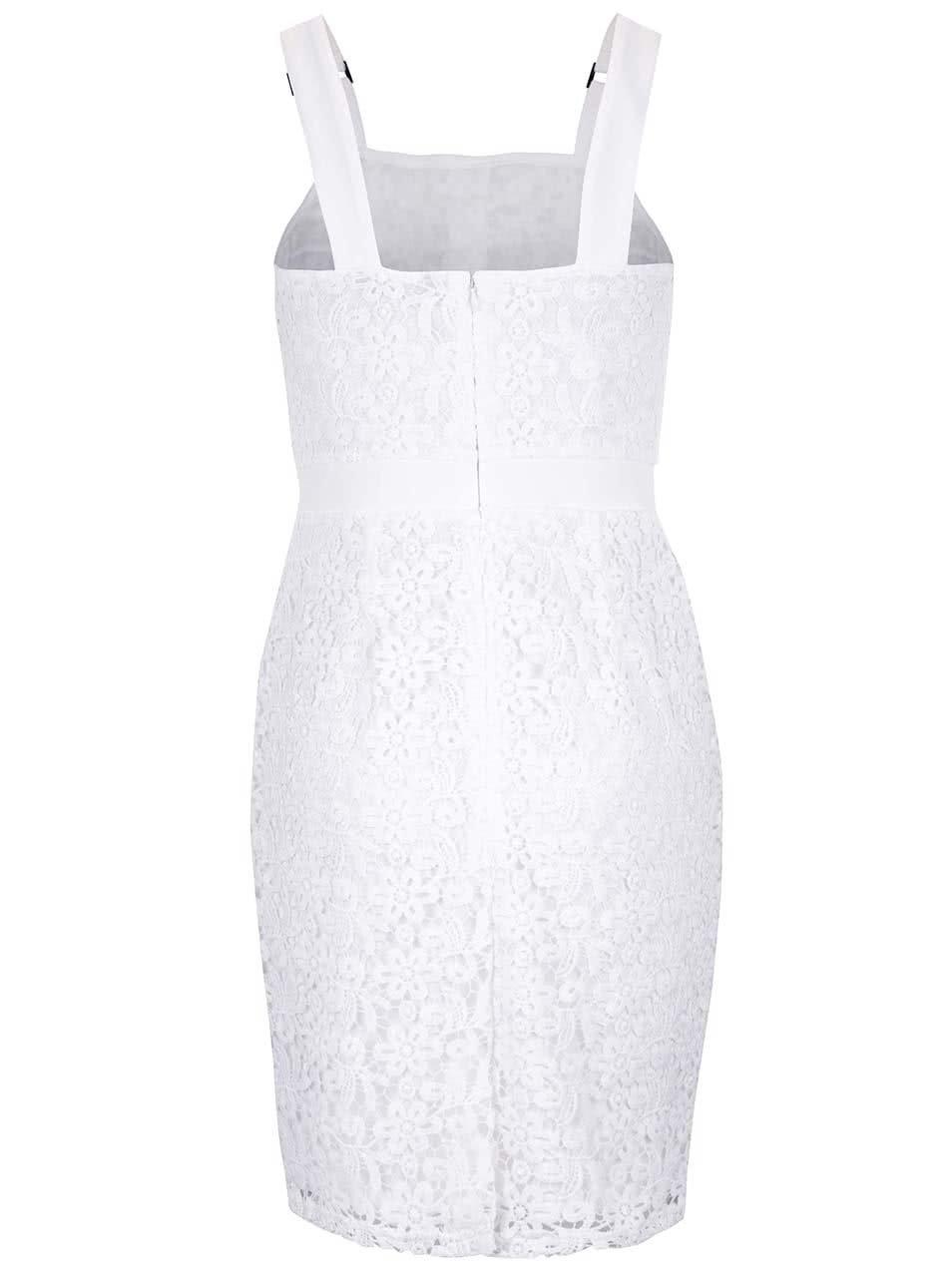 4128a4f43 Krémovo-bílé krajkové šaty s ozdobnými knoflíky Dorothy Perkins ...