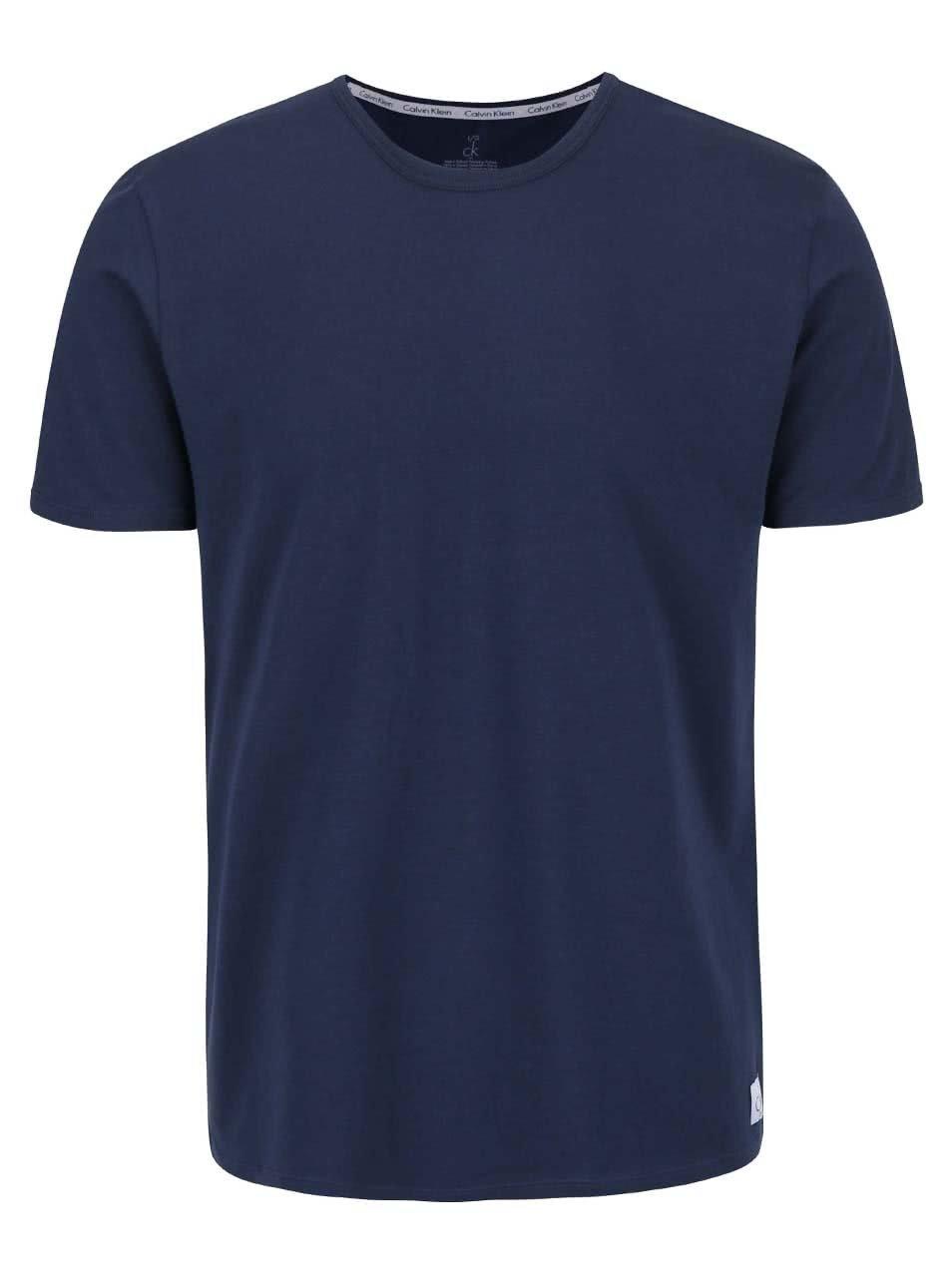 1eefcc76ea Súprava dvoch pánskych slim fit tričiek v tmavomodrej farbe s okrúhlym  výstrihom Calvin Klein Underwear ...