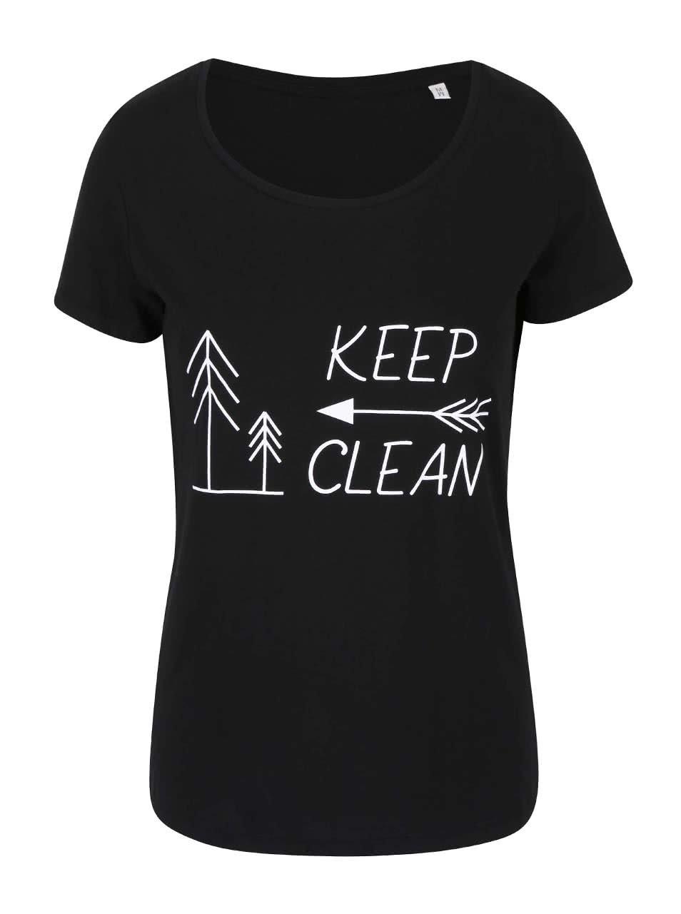 """""""Dobré"""" černé dámské tričko KEEPItCLEAN"""