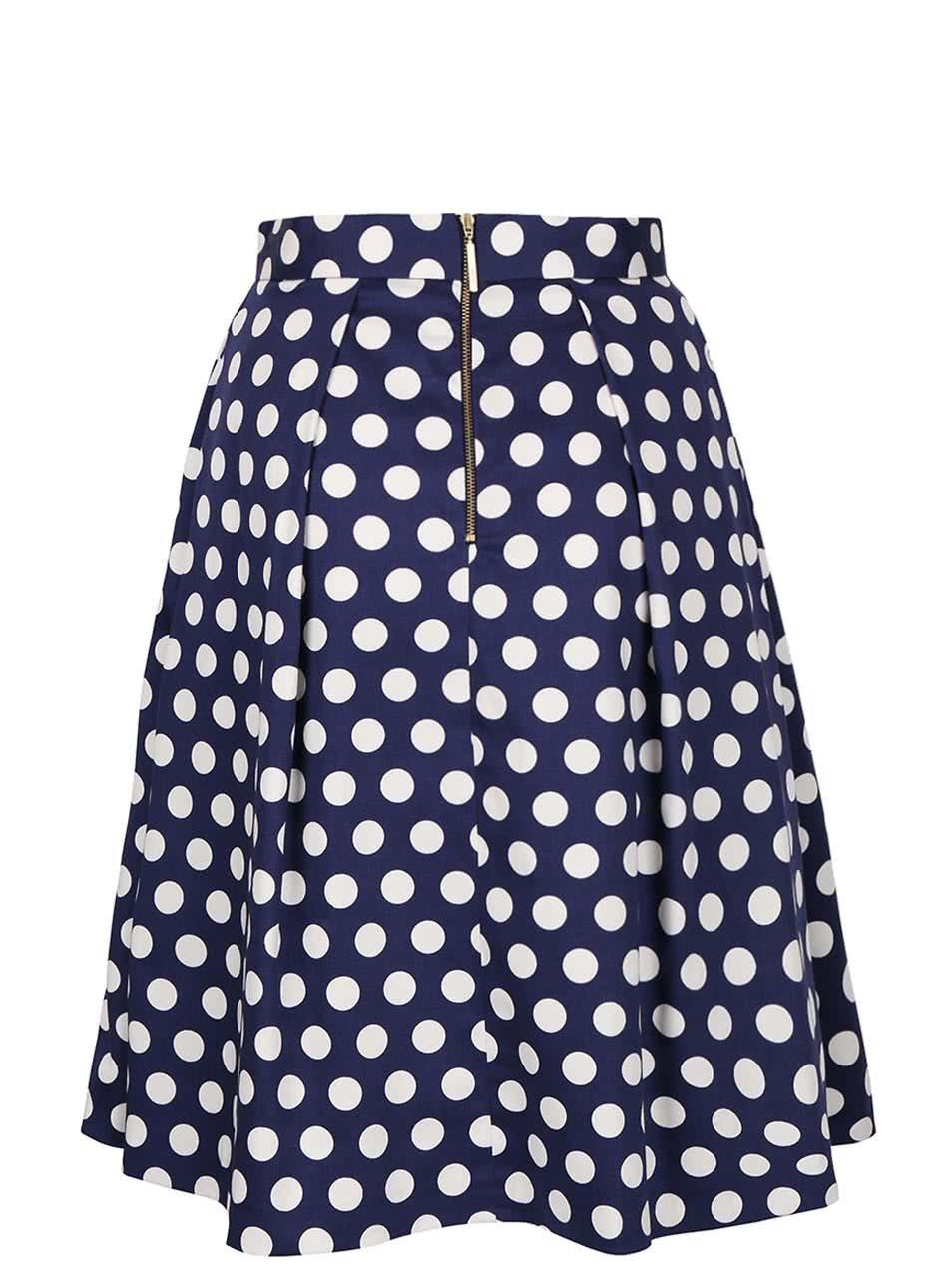 450796ea48cf Bílo-modrá puntíkatá sukně Closet ...