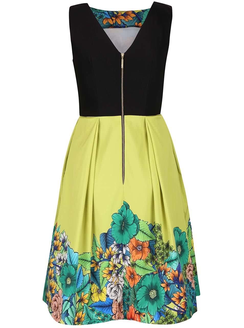 Světle zelené šaty s květinovým vzorem Closet ... 546325c804c