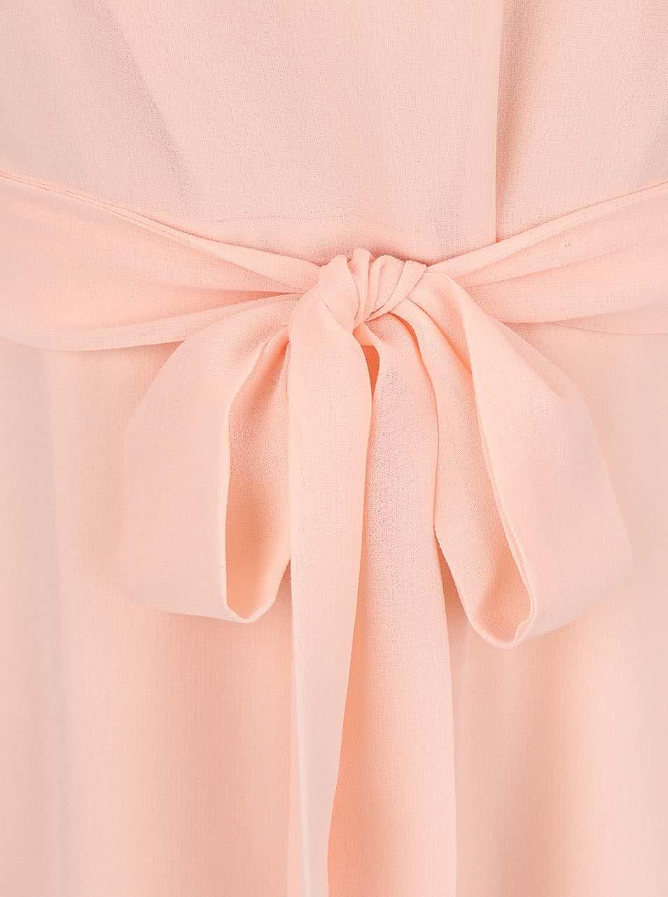 Marhuľové šifónové šaty Dorothy Perkins ... 191c9977eb1
