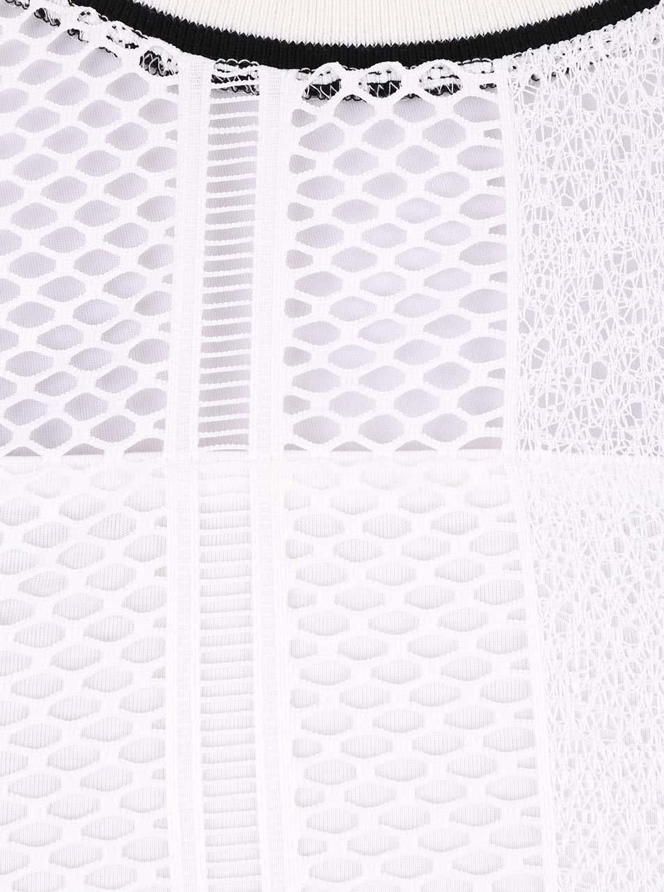 Bílé háčkované tričko s černým lemem Dorothy Perkins ... fe50654e77