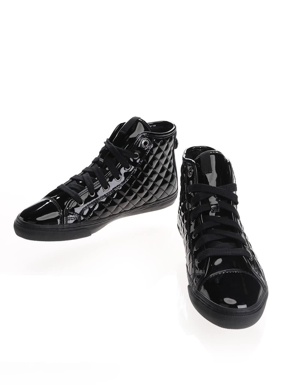 Černé dámské kotníkové tenisky Geox New Club ... 748fc38386