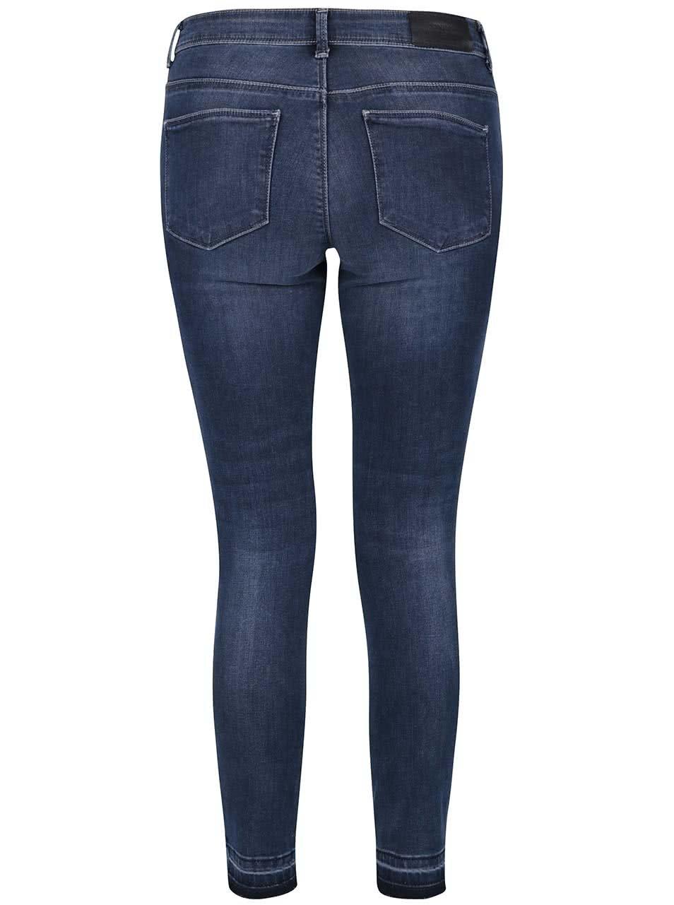 6eb82badcca Tmavě modré skinny džíny ONLY Carmen ...