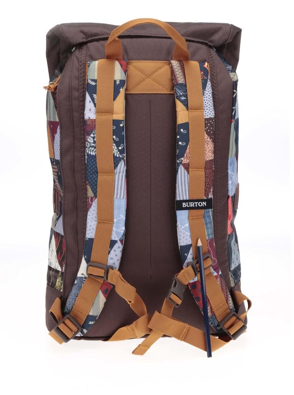 da3c484838 Hnědý unisex batoh s barevným optickým vzorem Burton Tinder ...
