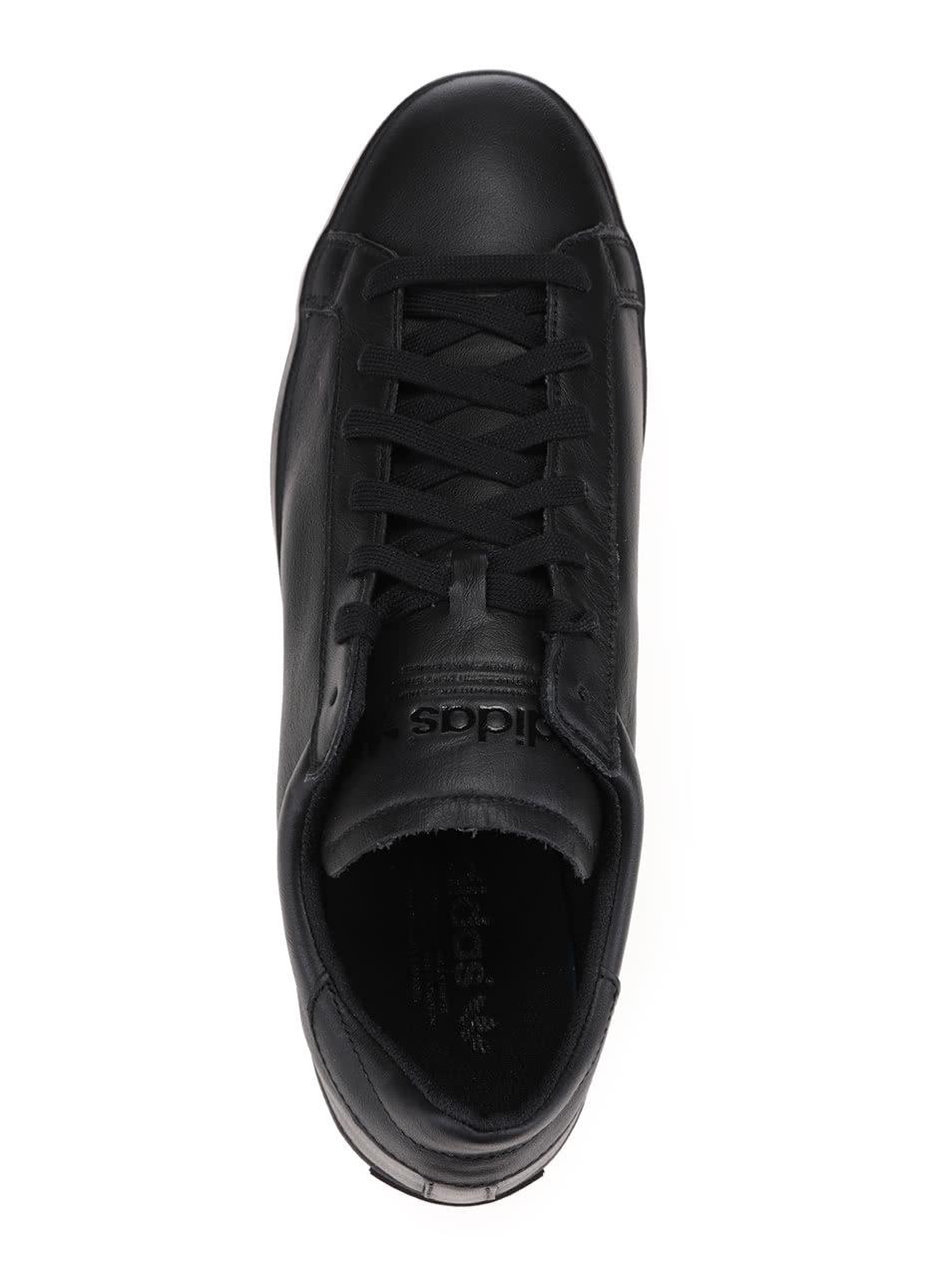 c32dcb8e2de Černé pánské kožené tenisky adidas Originals Court Vantage ...
