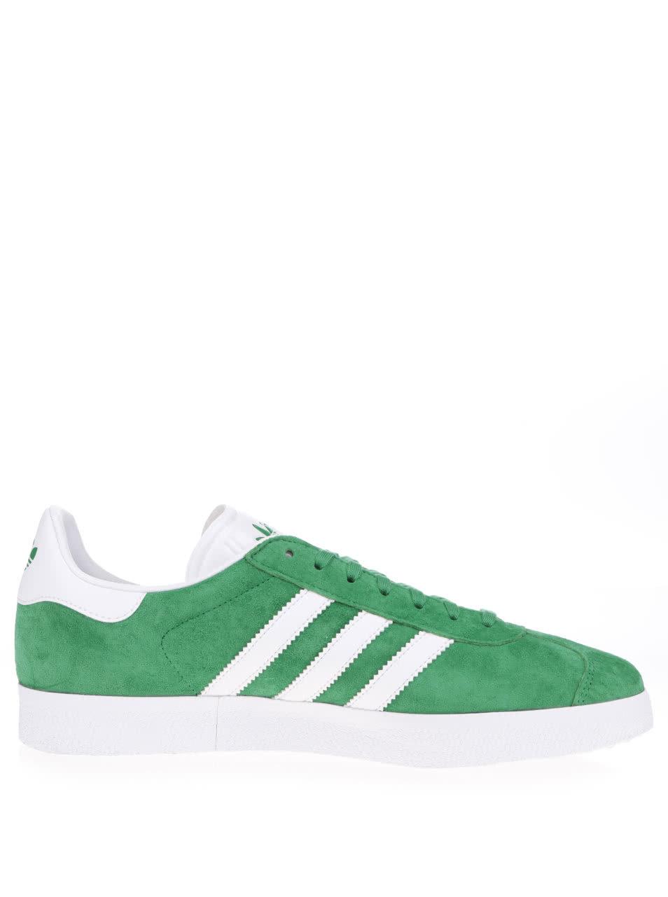 fc3cd1c3e69 Zelené pánské semišové tenisky adidas Originals Gazelle ...