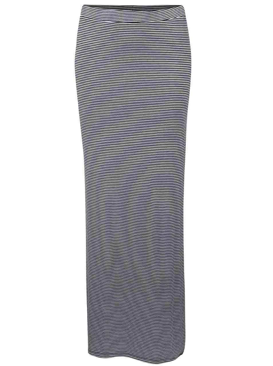 842a0b433509 Čierno-biela dlhá sukňa s pruhmi a rozparkami TALLY WEiJL ...
