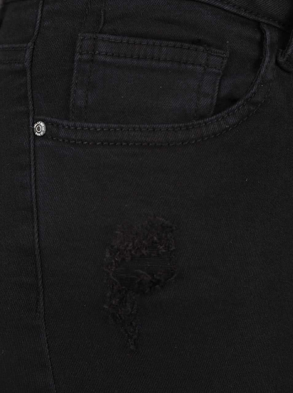 b8c6301e0db Černé elastické džíny s potrhaným efektem TALLY WEiJL ...