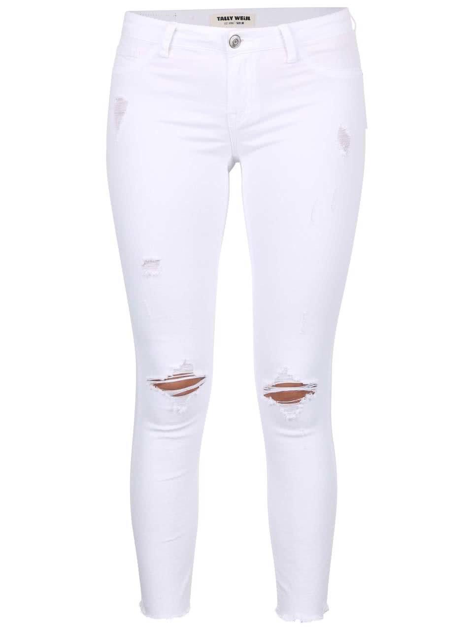 7a45e2e744 Biele nohavice s potrhaným efektom TALLY WEiJL ...
