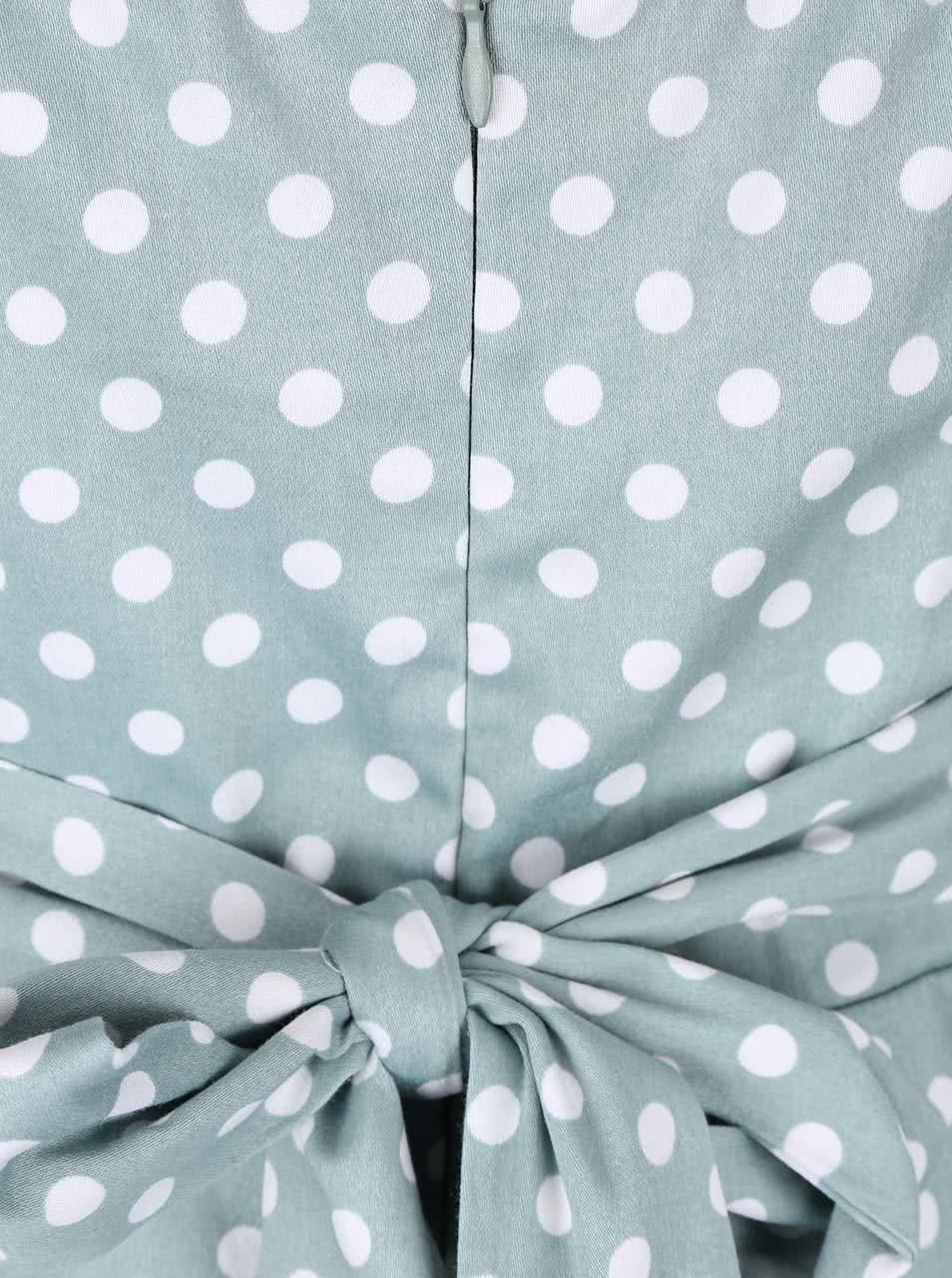 Mentolové šaty s bílými puntíky Apricot ... ee586998330